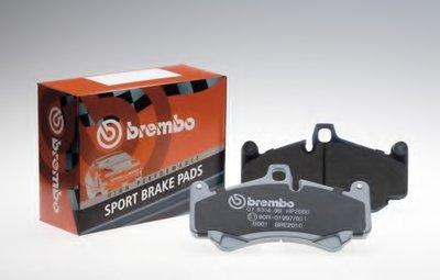 Комплект высокоэффективных тормозных колодок SPORT PADS HP2000 BREMBO купить