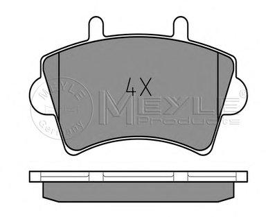 0252361318PD MEYLE Комплект тормозных колодок, дисковый тормоз