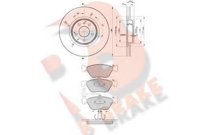 Комплект тормозов, дисковый тормозной механизм R BRAKE купить