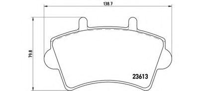 P59039 BREMBO Комплект тормозных колодок, дисковый тормоз