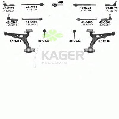 Подвеска колеса KAGER купить