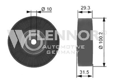Паразитный / ведущий ролик, поликлиновой ремень FLENNOR купить
