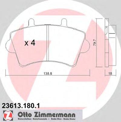 236131801 ZIMMERMANN Комплект тормозных колодок, дисковый тормоз