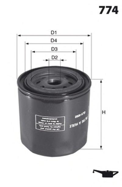 ELH4354 MECAFILTER Масляный фильтр