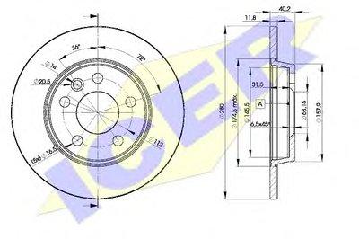 78BD31112 ICER Тормозной диск