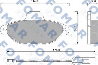 FO582881 FOMAR FRICTION Комплект тормозных колодок, дисковый тормоз