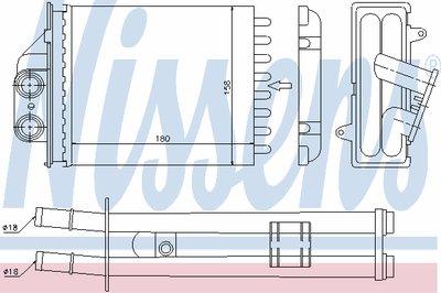 Теплообменник, отопление салона NISSENS купить