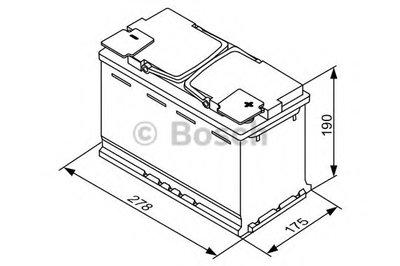 Стартерная аккумуляторная батарея; Стартерная аккумуляторная батарея S5A BOSCH купить