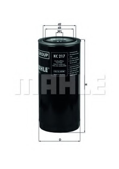 KC217 MAHLE ORIGINAL Топливный фильтр