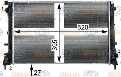 Радиатор, охлаждение двигателя BEHR HELLA SERVICE купить