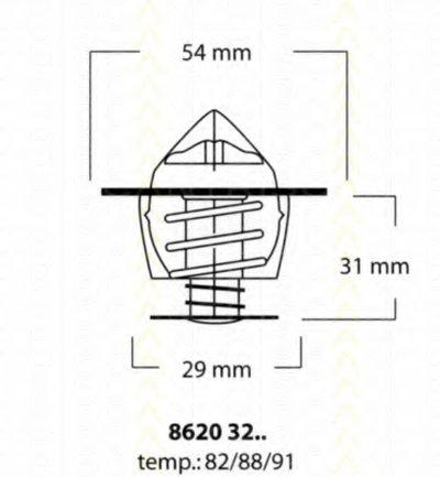 86203288 TRISCAN Термостат, охлаждающая жидкость