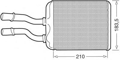 Теплообменник, отопление салона CTR купить