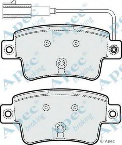 Комплект тормозных колодок, дисковый тормоз APEC braking купить