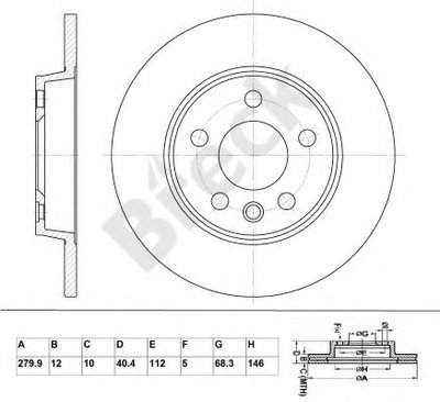 BR016SA100 BRECK Тормозной диск