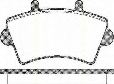 811010527 TRISCAN Комплект тормозных колодок, дисковый тормоз