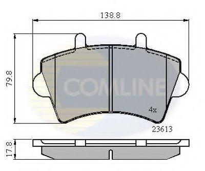 CBP01035 COMLINE Комплект тормозных колодок, дисковый тормоз