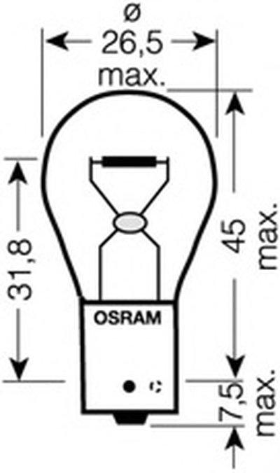 Лампа накаливания, фонарь указателя поворота; Лампа накаливания, фонарь сигнала торможения; Лампа накаливания, фара заднего хода; Лампа накаливания, стояночный / габаритный огонь; Лампа накаливания, фонарь указателя поворота; Лампа накаливания, фонарь сигнала торможения; Лампа накаливания, стояночный / габаритный огонь; Лампа накаливания, фара задн DIADEM Chrome OSRAM купить