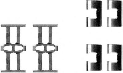 Комплектующие, колодки дискового тормоза HELLA PAGID купить