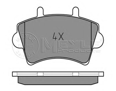 0252361318 MEYLE Комплект тормозных колодок, дисковый тормоз