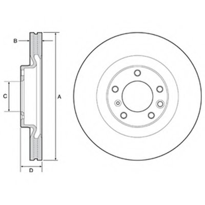 Фотография Тормозной диск DELPHI BG9119C-2