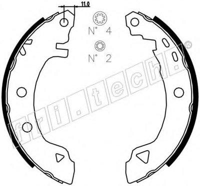 Комплект тормозных колодок fri.tech. купить