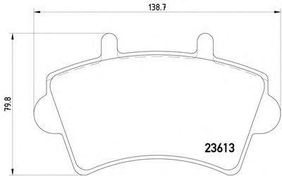 2361301 TEXTAR Комплект тормозных колодок, дисковый тормоз