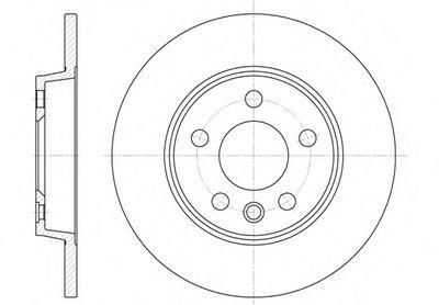 655800 REMSA Тормозной диск