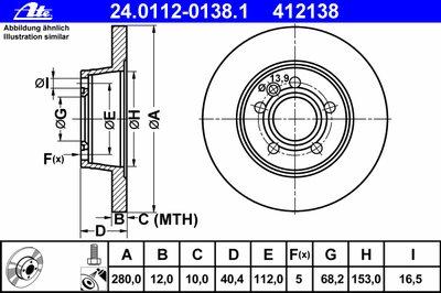 24011201381 ATE Тормозной диск