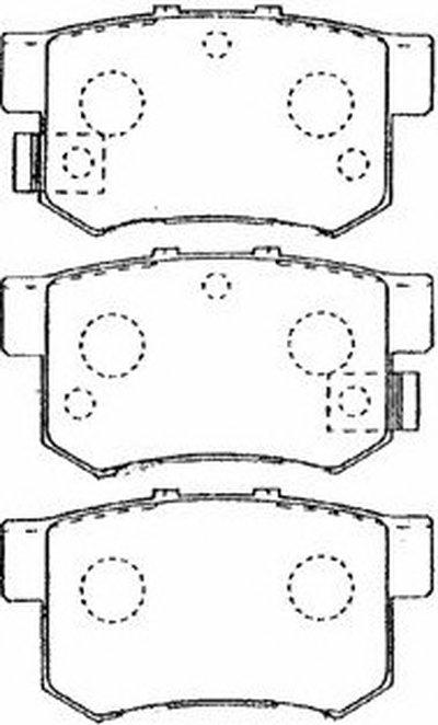 Комплект тормозных колодок, дисковый тормоз Premium Advics AISIN купить