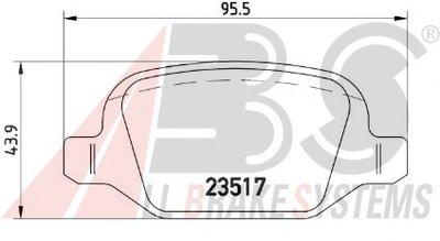Комплект тормозных колодок, дисковый тормоз SPORTLINE A.B.S. купить