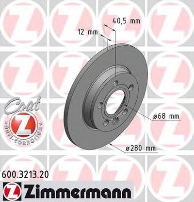 600321320 ZIMMERMANN Тормозной диск
