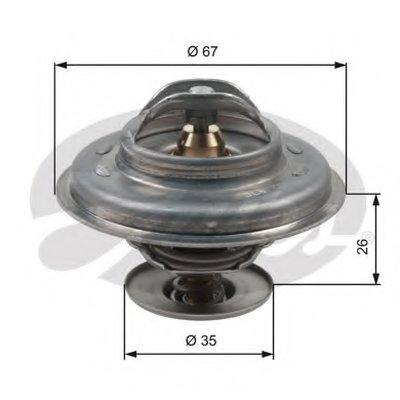 TH11687G1 GATES Термостат, охлаждающая жидкость