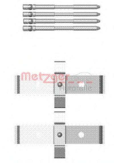 Комплектующие, колодки дискового тормоза METZGER купить