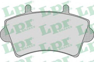 05P884 LPR Комплект тормозных колодок, дисковый тормоз