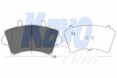 KBP6563 KAVO PARTS Комплект тормозных колодок, дисковый тормоз