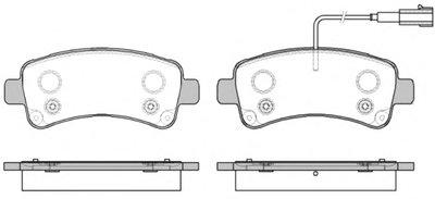 2158802 ROADHOUSE Комплект тормозных колодок, дисковый тормоз