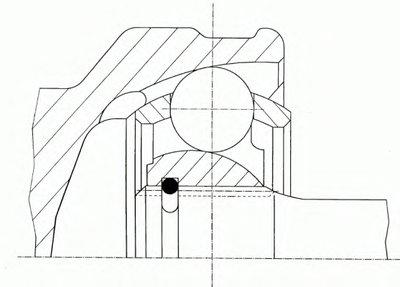 1501488SX STELLOX Шарнирный комплект, приводной вал