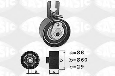 1700013 SASIC Натяжной ролик, ремень ГРМ