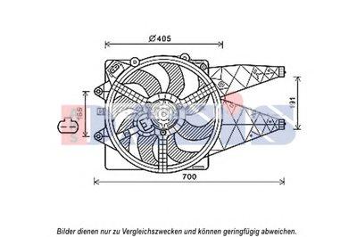 Вентилятор, охлаждение двигателя AKS DASIS купить