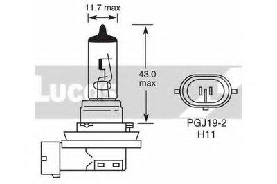 Лампа накаливания, фара дальнего света; Лампа накаливания, основная фара; Лампа накаливания, противотуманная фара LUCAS ELECTRICAL купить