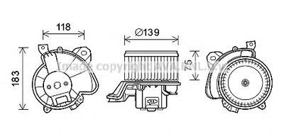 Электродвигатель, вентиляция салона AVA QUALITY COOLING купить