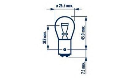 Лампа накаливания, фонарь указателя поворота; Лампа накаливания, фонарь сигнала тормож./ задний габ. огонь; Лампа накаливания, фонарь сигнала торможения; Лампа накаливания, задняя противотуманная фара; Лампа накаливания, фара заднего хода; Лампа накаливания, задний гарабитный огонь; Лампа накаливания, стояночные огни / габаритные фонари; Лампа нака NARVA купить