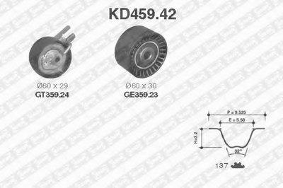 KD45942 SNR Комплект ремня ГРМ