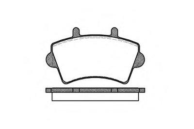 081900 REMSA Комплект тормозных колодок, дисковый тормоз