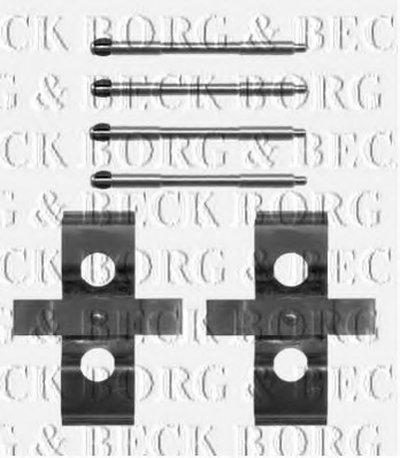 Комплектующие, колодки дискового тормоза BORG & BECK купить