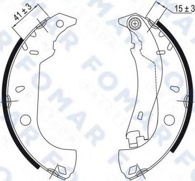 Комплект тормозных колодок FOMAR Friction купить