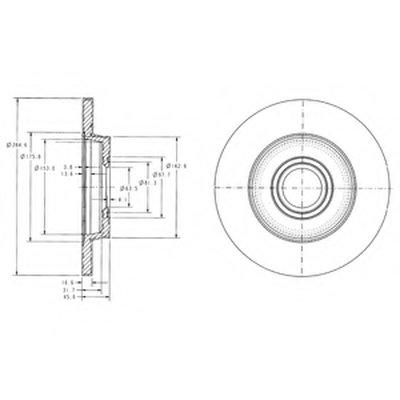 Фотография Тормозной диск DELPHI BG3416-7