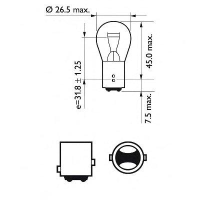 Лампа накаливания, фонарь указателя поворота; Лампа накаливания, фонарь сигнала тормож./ задний габ. огонь; Лампа накаливания, фонарь сигнала торможения; Лампа накаливания, задняя противотуманная фара; Лампа накаливания, фара заднего хода; Лампа накаливания, задний гарабитный огонь; Лампа накаливания, стояночные огни / габаритные фонари; Лампа нака PHILIPS купить