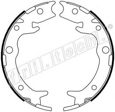 Комплект тормозных колодок, стояночная тормозная система fri.tech. купить