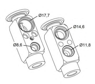 38479 NRF Расширительный клапан, кондиционер